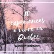 Un hiver au Canada : 10 choses à faire !
